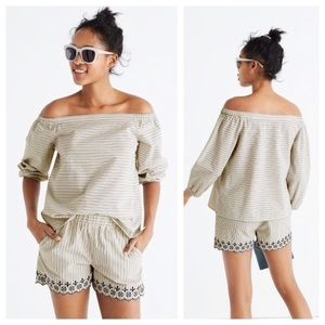 [Madewell] Jardin Off the Shoulder Blouse